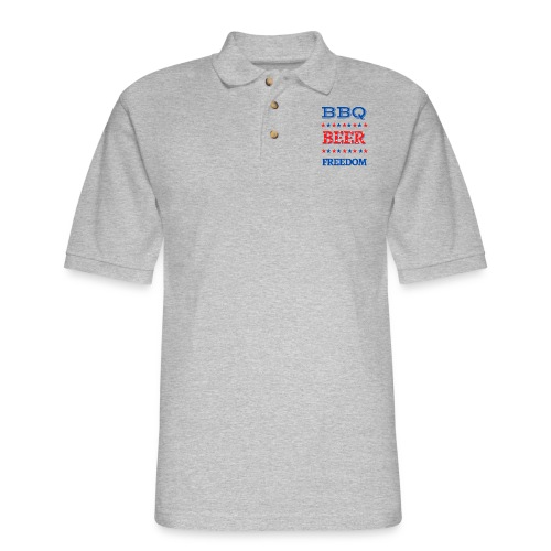 BBQ BEER FREEDOM - Men's Pique Polo Shirt