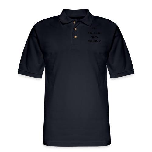 The New Skinny Gym Motivation - Men's Pique Polo Shirt