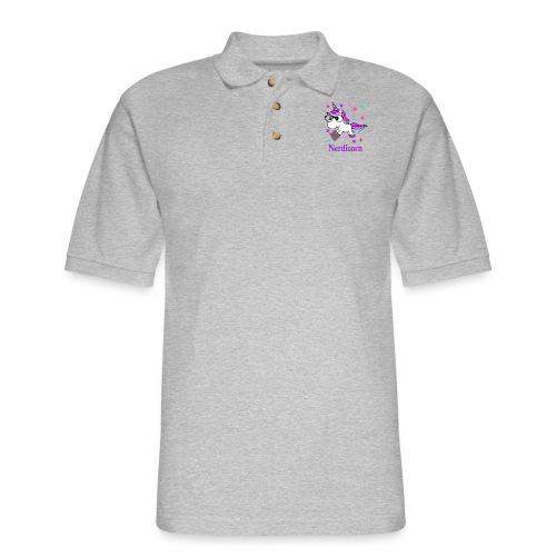 Nerdicorn! - Men's Pique Polo Shirt