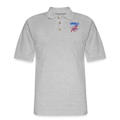 Sparkle Red, White and Blue Unicorn - Men's Pique Polo Shirt