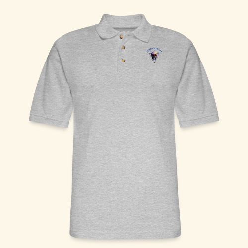 Happy fathers day skull Tee T shirt - Men's Pique Polo Shirt