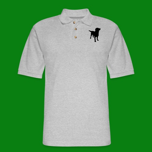 Men's Pique Polo Shirt - Dog,cute,funny