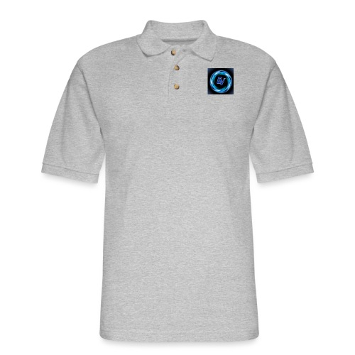 MY YOUTUBE LOGO 3 - Men's Pique Polo Shirt