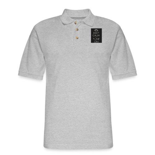 Keep Calm and Tune on - Men's Pique Polo Shirt