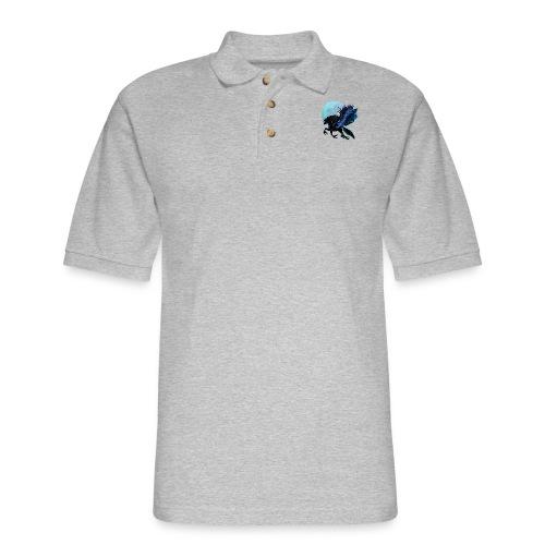 Black Pegasus and Blue Moon - Men's Pique Polo Shirt