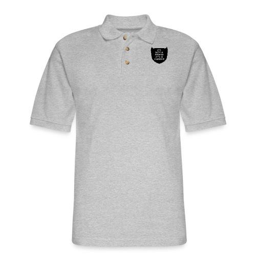 Its not a beard its a saddle - Men's Pique Polo Shirt