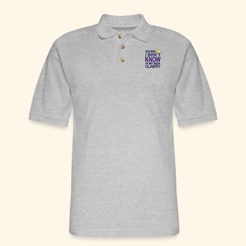 new clarity - Men's Pique Polo Shirt