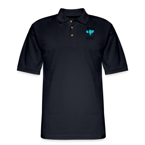 Jay's Classic Drum Head - Men's Pique Polo Shirt