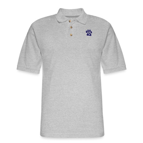 cubs official logo - Men's Pique Polo Shirt