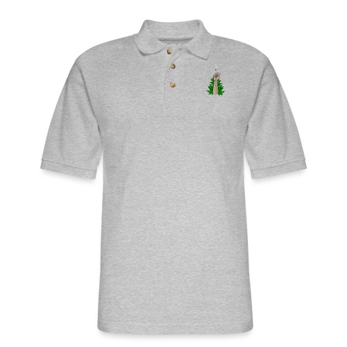 weed symbol png hand weed by lem0npl d5jps4q - Men's Pique Polo Shirt