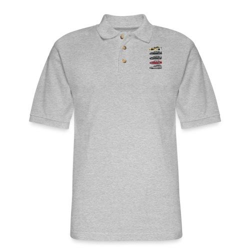 Stack of Opel Omegas / Vauxhall Carlton A - Men's Pique Polo Shirt