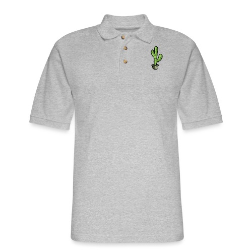 Fresh Green Cactus - Men's Pique Polo Shirt