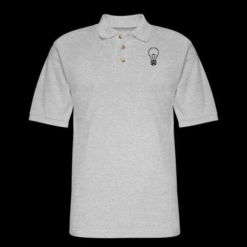lightbulb by bmx3r - Men's Pique Polo Shirt