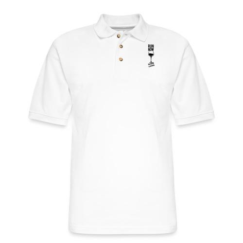 Run Now Gym Motivation - Men's Pique Polo Shirt