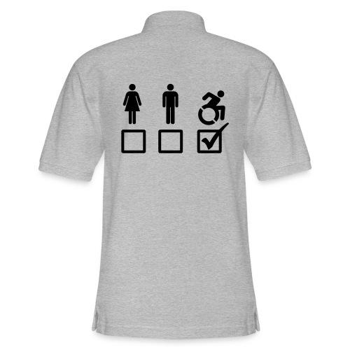 A wheelchair user is also suitable - Men's Pique Polo Shirt