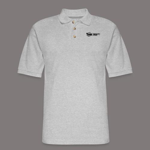 RMA-full-logo-Front-1clr- - Men's Pique Polo Shirt