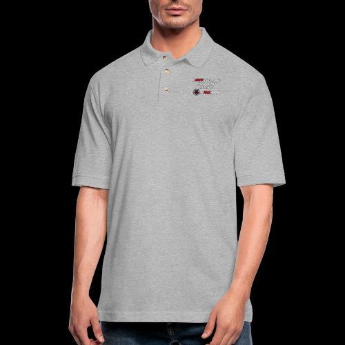 Hate Front/Back - Men's Pique Polo Shirt