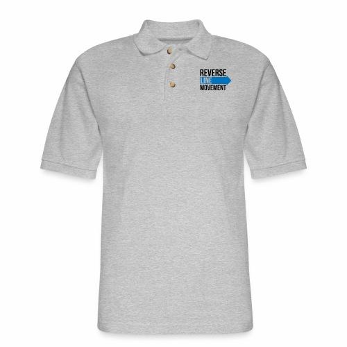 Reverse Line Movement - Men's Pique Polo Shirt