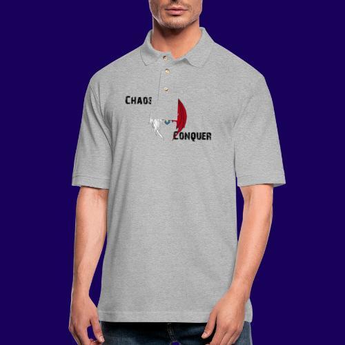 ChaosNConquer Design Logo with Steampunk Girl - Men's Pique Polo Shirt