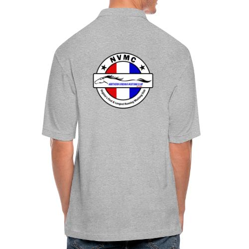 Circle logo t-shirt on white with black border - Men's Pique Polo Shirt