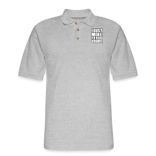 I Bust Mine Gym Motivation - Men's Pique Polo Shirt