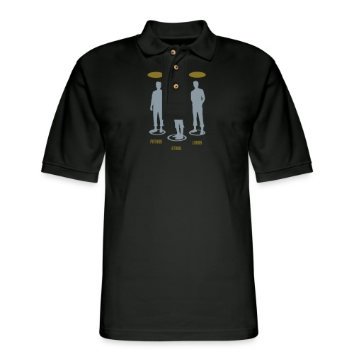 Pathos Ethos Logos 1of2 - Men's Pique Polo Shirt