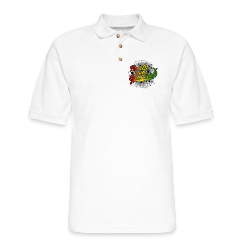 Rasta nuh Gangsta - Men's Pique Polo Shirt