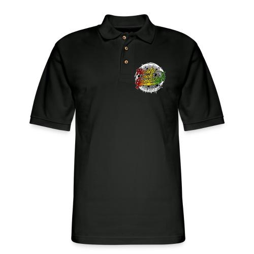 Rasta nuh Gangsta - Men's Pique Polo Shirt