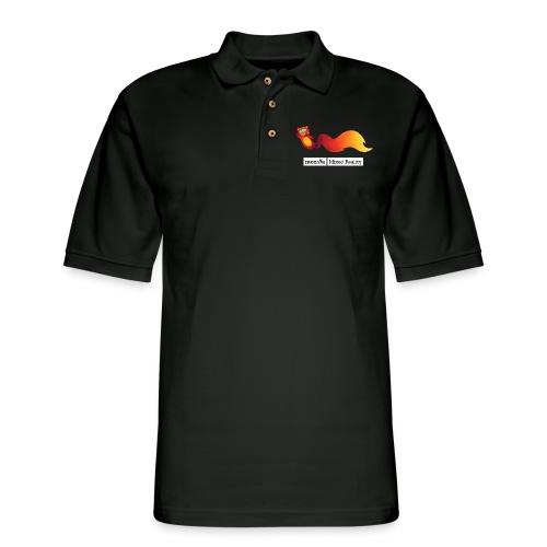 Foxr Flying (white MR logo) - Men's Pique Polo Shirt