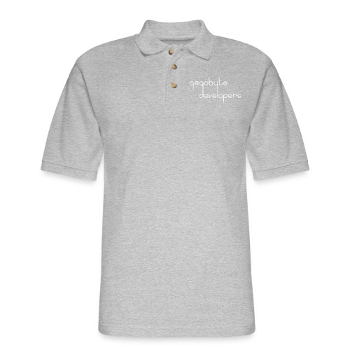 White Logo - Men's Pique Polo Shirt