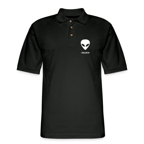 I BELIEVE ALIEN - Men's Pique Polo Shirt