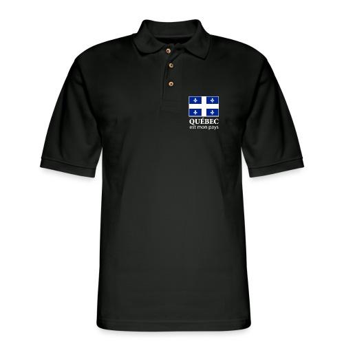 Québec est mon pays - Men's Pique Polo Shirt