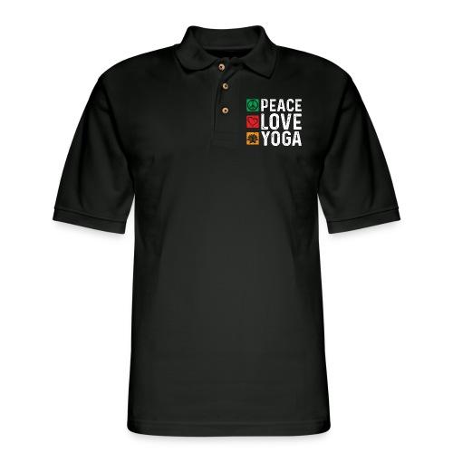 Peace Love Yoga - Men's Pique Polo Shirt