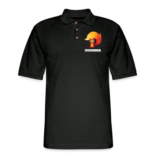 Foxr Sitting (white MR logo) - Men's Pique Polo Shirt