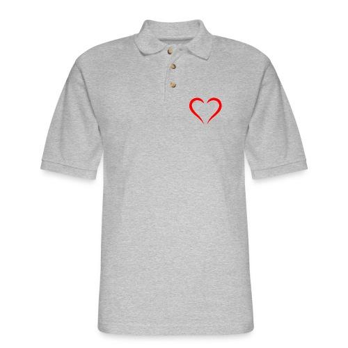 open heart - Men's Pique Polo Shirt