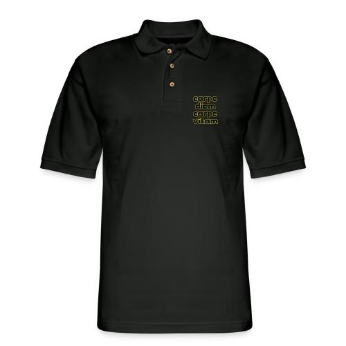 carpe diem carepe vitam - Men's Pique Polo Shirt