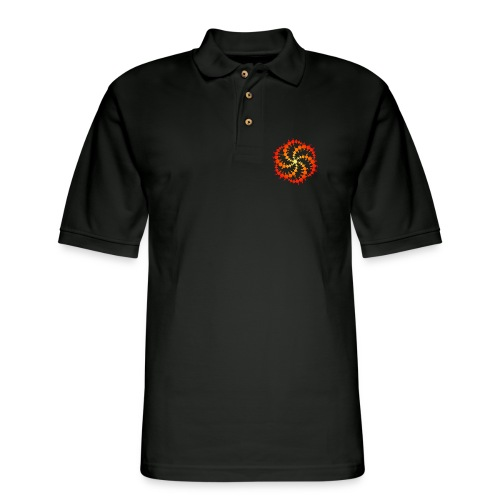 Crop circle - Men's Pique Polo Shirt