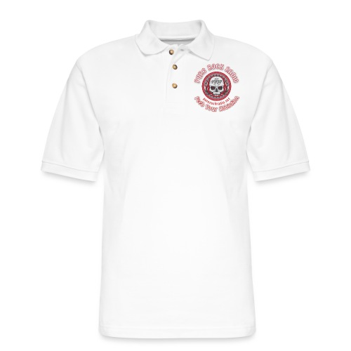 PUREROCKRADIO darkback radioflag PNG png - Men's Pique Polo Shirt