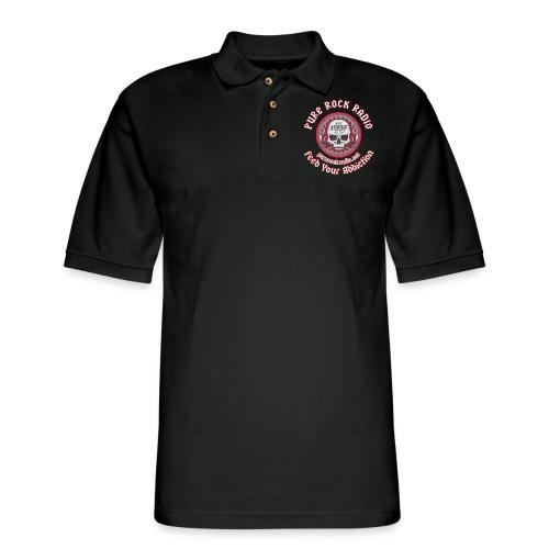 PUREROCKRADIO darkback radioflag PNG png - Men's Pique Polo Shirt