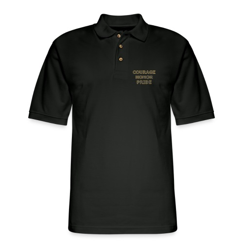 courage honor pride - Men's Pique Polo Shirt
