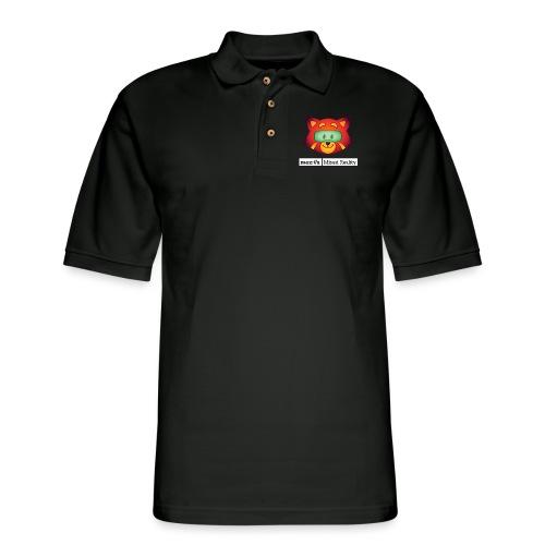 Foxr Head (white MR logo) - Men's Pique Polo Shirt