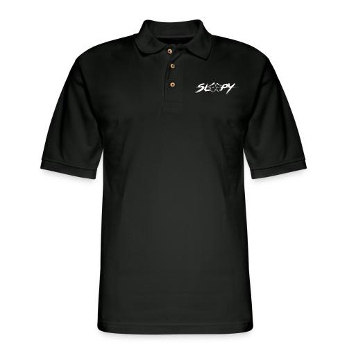 Sleepy Logo White - Men's Pique Polo Shirt