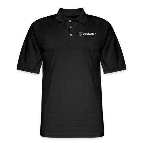QD logo all white - Men's Pique Polo Shirt