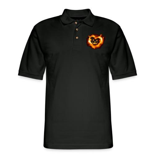 Halloween Heart - Men's Pique Polo Shirt