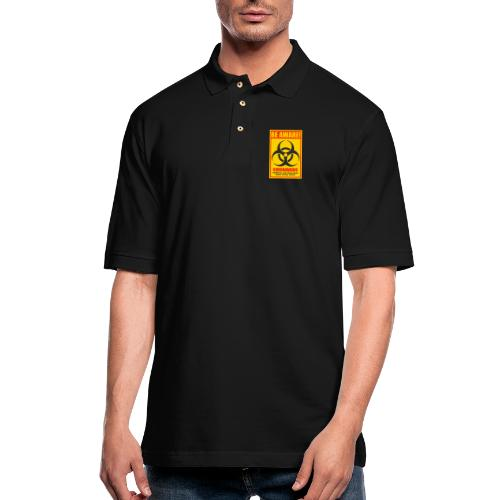 Be aware! Coronavirus biohazard warning sign - Men's Pique Polo Shirt