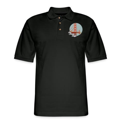 Bay Area Buggs Bridge Design - Men's Pique Polo Shirt
