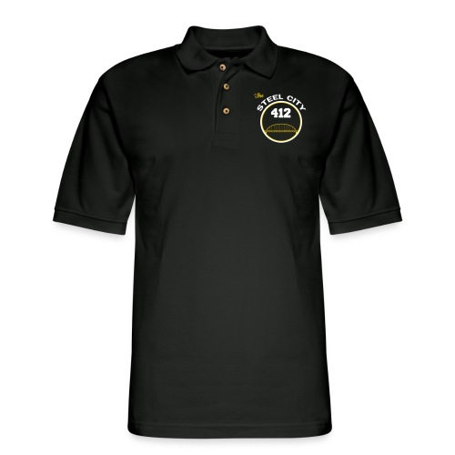Steel City Long Sleeve Shirts - Men's Pique Polo Shirt
