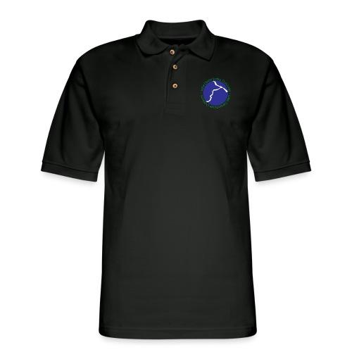 LDO WHITE LOGO - Men's Pique Polo Shirt