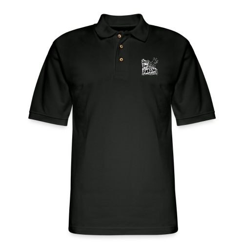 The Good, the Bad, and the Backlog - White logo - Men's Pique Polo Shirt