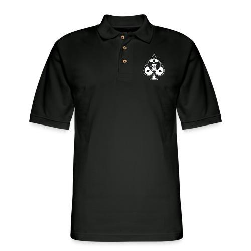 Disc Golf Lucky Ace Shirt or Prize - Men's Pique Polo Shirt